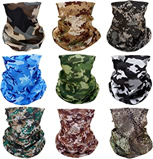 GraceMe 8PCS 9PCS Multifunction Magic Motorcycle Outdoor Sport Seamless Colorful Tube Half Face Mask Wrap Headband Scarf