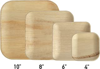 Brheez Palm Leaf Disposable Bamboo Style Square Plates 4