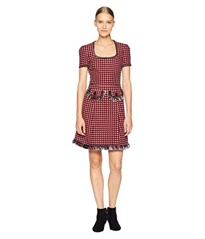 Boutique Moschino Checkered Dress (Fantasy Print Red) Women