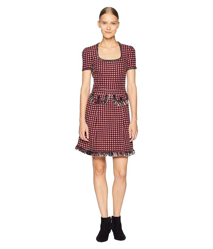 Boutique Moschino Checkered Dress (Fantasy Print Red) Women