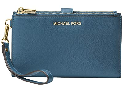 MICHAEL Michael Kors Double Zip Wristlet (Dark Chambray) Wristlet Handbags