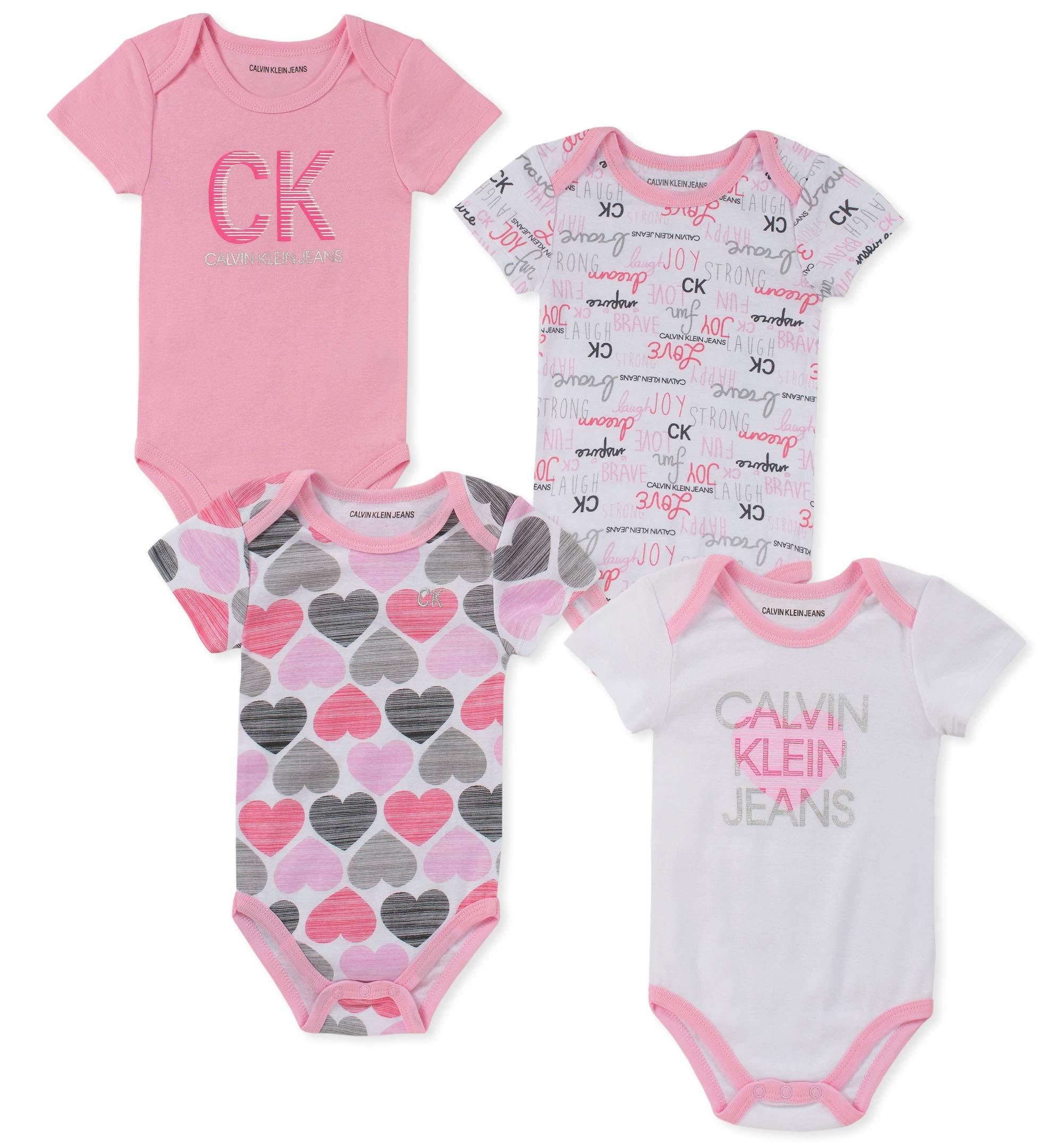 カルバンクライン女の赤ちゃんジャンプスーツ4ピースセット