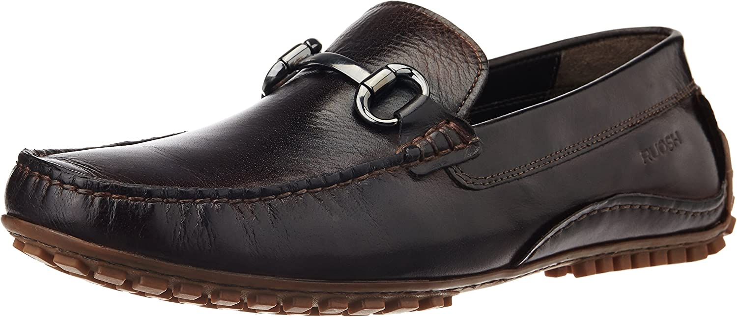 Ruosh Men's MCD - 116-07 Brown Leather Loafers and Mocassins - 9 UK India (43 EU)(10 US)