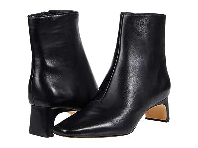 Loeffler Randall Lennon Mid-Heel Square Toe Ankle Boots (Black) Women