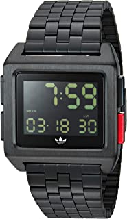 Adidas Watches Archive_M1. Men's 70's Style Stainless Steel Digital Watch with 5 Link Bracelet...