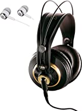 AKG K240 STUDIO Semi-Open Over-Ear Professional Studio Headphones Include a Removable Cable and Varimotion Technology for ...