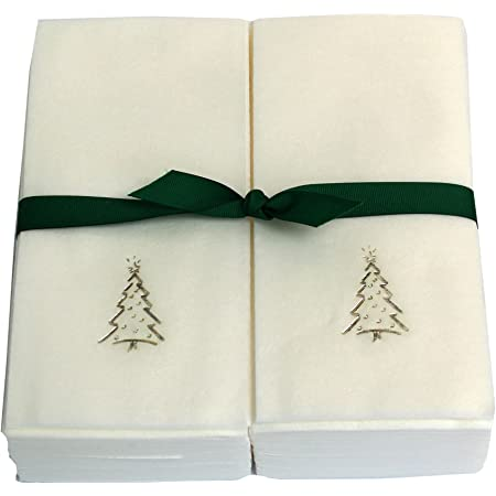 Boston International Christmas Hand Towels Paper Guest Towels Disposable Fingertip Towels Christmas Bathroom Decor Ho Ho Ho Pak 32