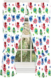 Franco Kids Room Window Curtain Panels with Tie Backs Drapes Set, 82