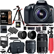 Canon EOS Rebel T6 DSLR Camera Kit, EF-S 18-55mm is II Lens, EF 75-300mm III Lens,..