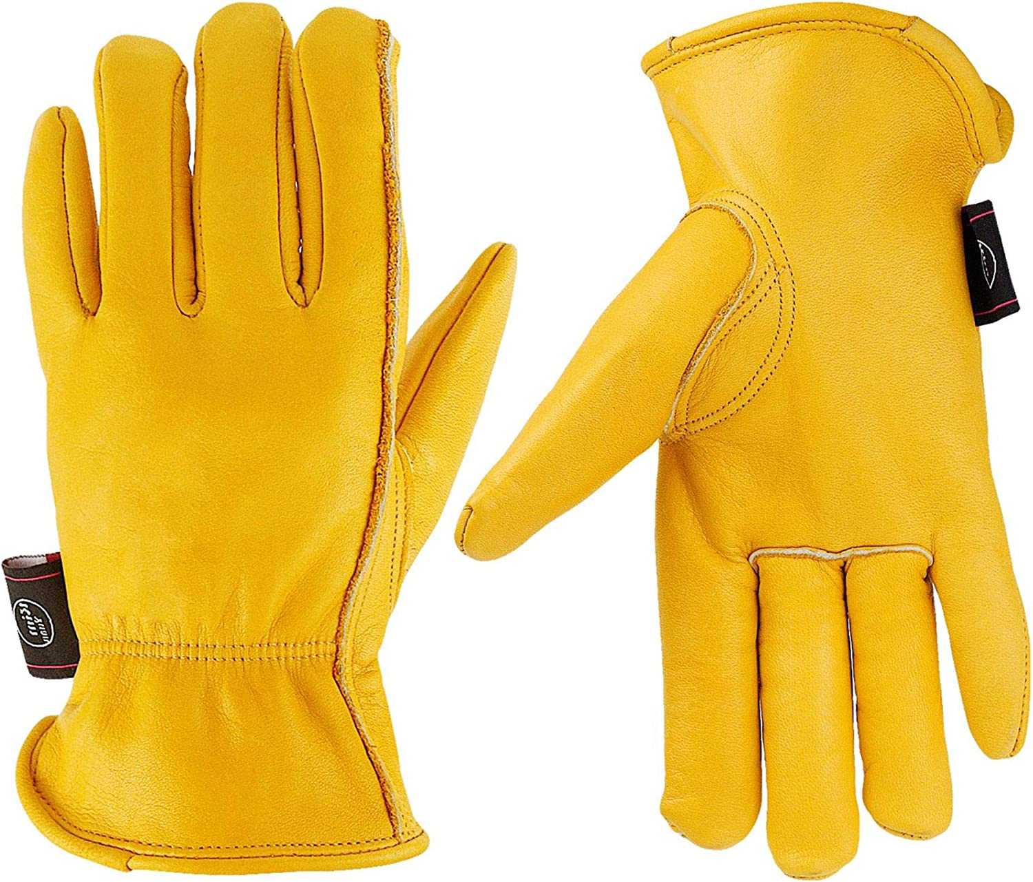 KIM YUAN Leather Work Tucson Mall Clearance SALE! Limited time! Gloves Gardening for Const Cutting Perfect