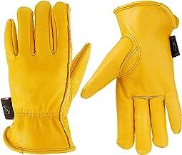 KIM YUAN Lederen werkhandschoenen voor tuinieren, snijden/bouw/boerderij/motorfiets, heren en dames