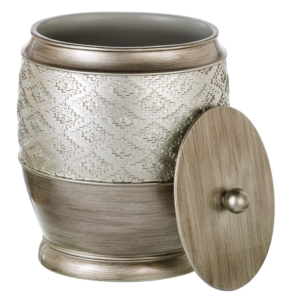 Dublin Low price Special sale item Bathroom Trash Can with Lid Resin Small Garb - Decorative