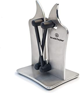 Brod & Taylor Professional Knife Sharpener Solid Stainless Steel and Austrian Tungsten Carbide