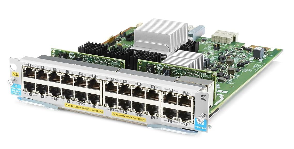 うねる慰め局日本ヒューレットパッカード HPE Aruba 20port PoE+ / 4port 1/2.5/5/XGT v3 zl2 Module J9991A