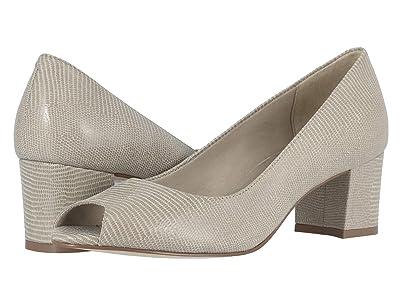 Walking Cradles Jaunt (Bone Patent Lizard Print Leather) High Heels