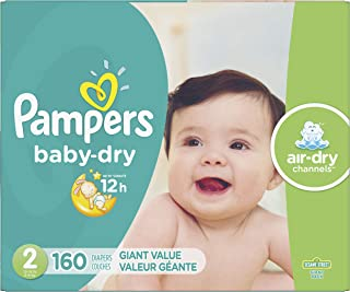 Diapers Size 2, 160 Count – Pampers Baby Dry Disposable Baby Diapers, Giant Pack..