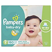 Diapers Size 2, 160 Count - Pampers Baby Dry Disposable Baby Diapers, Giant Pack (Packaging May Vary)