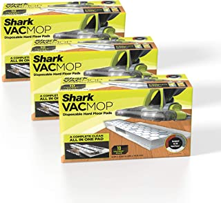 Shark VMP30 VACMOP Disposable Hard Floor Vacuum and Mop Pad Refills, 30 Count, White