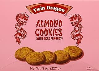 Twin Dragon Almond Cookies 8 Oz (One Box)