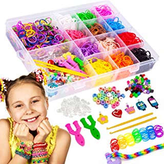 Liberry Colorful Rubber Bands Bracelet Making Kit for Girls 4 5 6 7 8 9 10 Years Old, 2300+ Loom Bands, All in One Design,...