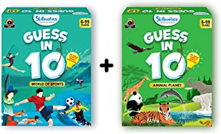Skillmatics Guess in 10 - Animal Planet + World of Sports (Ages 6-99) Bundle | Card Game of Smart Questions | General Know...