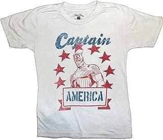 Marvel Captain America Stencil Star Logo Youth Tee Comics Vintage Retro T-Shirt