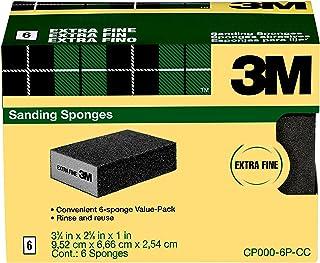 3M Sanding Sponge, Extra Fine Grit, 6-Pack (CP000-6P-CC)