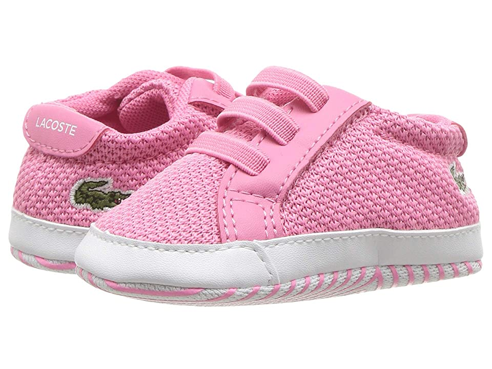 Lacoste Kids L.12.12 Crib 318 (Infant/Toddler) (Pink/White) Girl