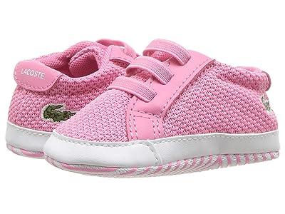 Lacoste Kids L.12.12 Crib 318 (Infant/Toddler) (Pink/White) Girl