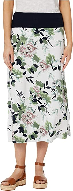 Printed Jersey Skirt Transformable To Dress