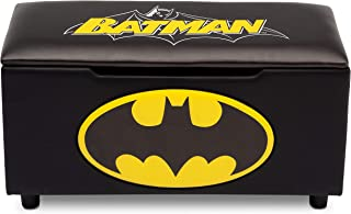 DC Comics Batman Upholstered Storage Bench for Kids | Perfect for Bedrooms/Playrooms/Living Rooms | Features Fun Graphics of Batman