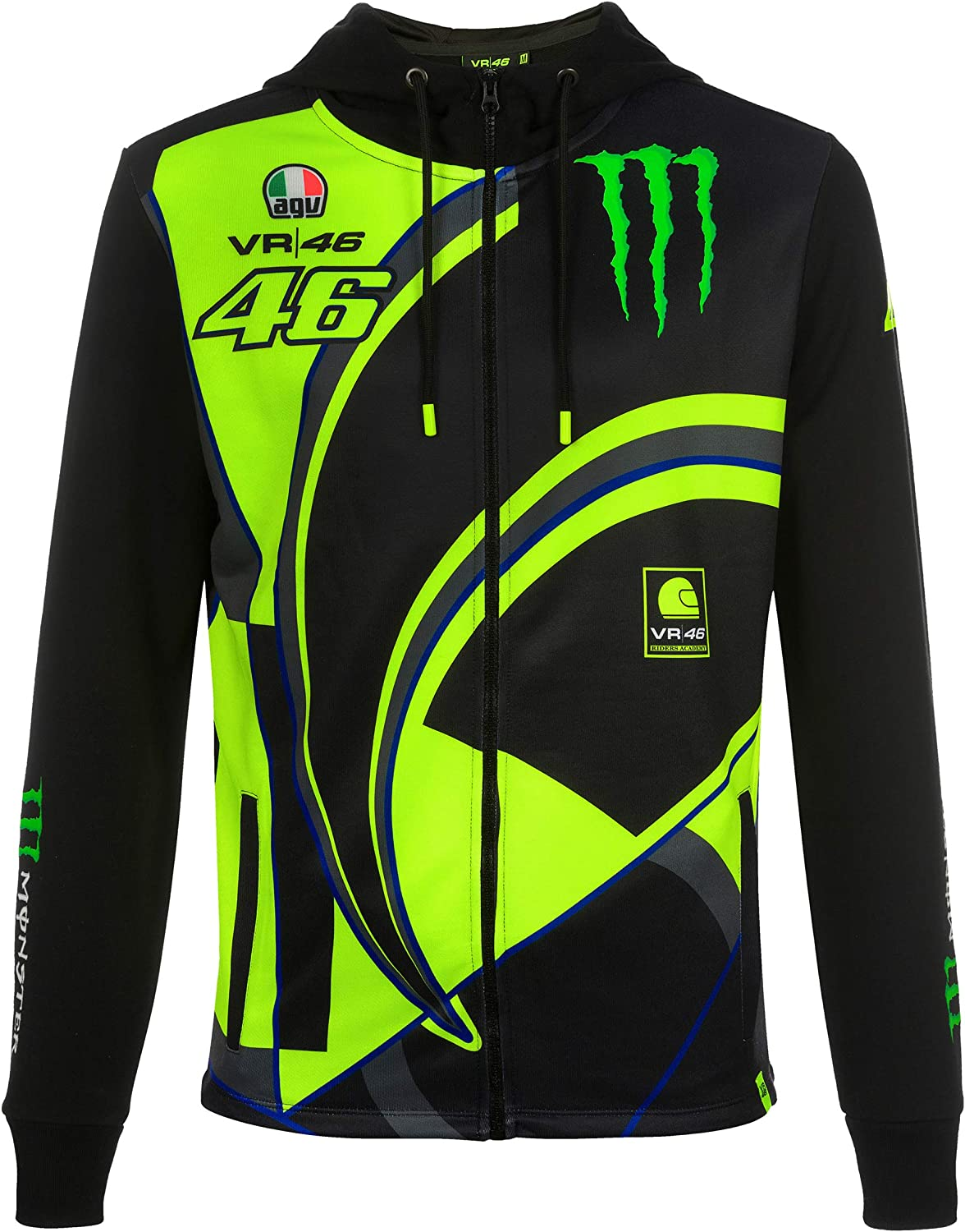 Kid Hoodie fleece Yamaha VR46 official Valentino Rossi 46 collection Located in