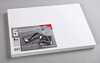 Clairefontaine A3 Foam Boards, 5 mm Thick, 5 Sheets, White
