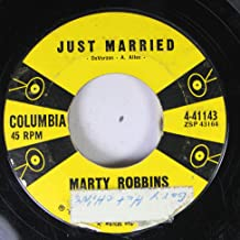 MARTY ROBBINS JUST MARRIED / STAIRWAY OF LOVE 45 rpm single
