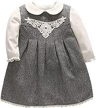 JanLEESi Baby Girls Long Sleeve T-Shirt Skirt Set Toddler Autumn Cotton Party Dresses Set Photo Shoots Outfits