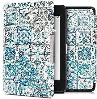 kwmobile 対応: Amazon Kindle Paperwhite (10. Gen - 2018) ケース - 電子書籍カバー PUレザー - オートスリープ Reader 保護 モロッカン タイル単色デザイン