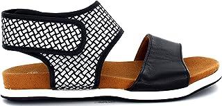 B M Bernie Mev New York Damskie sandały Babe Ankle Strap, niskie, bardzo wygodne