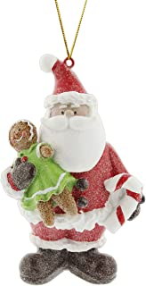 Midwest Santa with Gingerbread Woman Ornament
