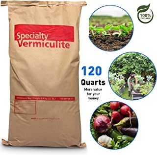 EasyGoProdcuts Vermiculite Coarse 120 Quarts – 4 Cubic Foot of Organic Planting Soil Additive - Incubator
