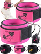 Ankle Straps for Cable Machines - Pair Pink
