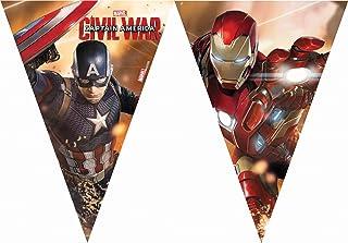 Unique Party 72240 - 2.3m Captain America Civil War Bunting Flags