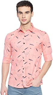 Kevin Swift Men's Printed Regular Fit Casual Shirt