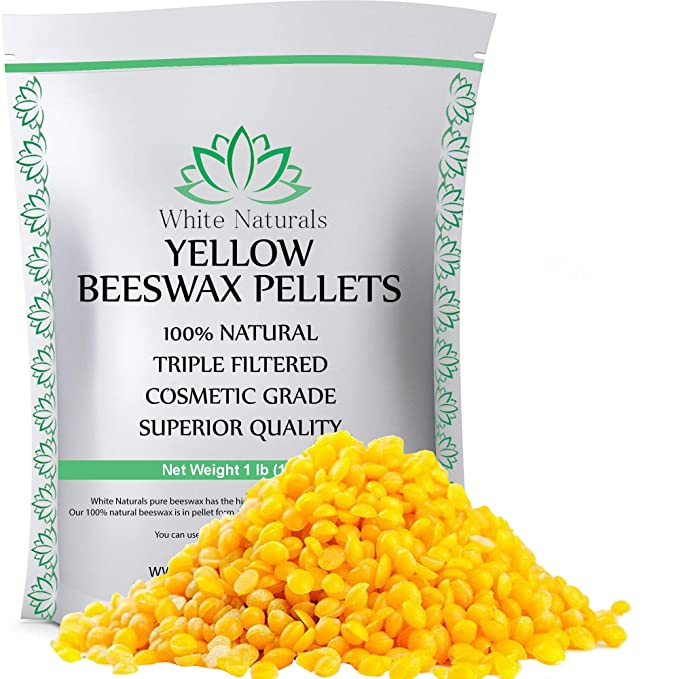 YYCH 10-lb Pure White Beeswax Pellets-100/% Pure