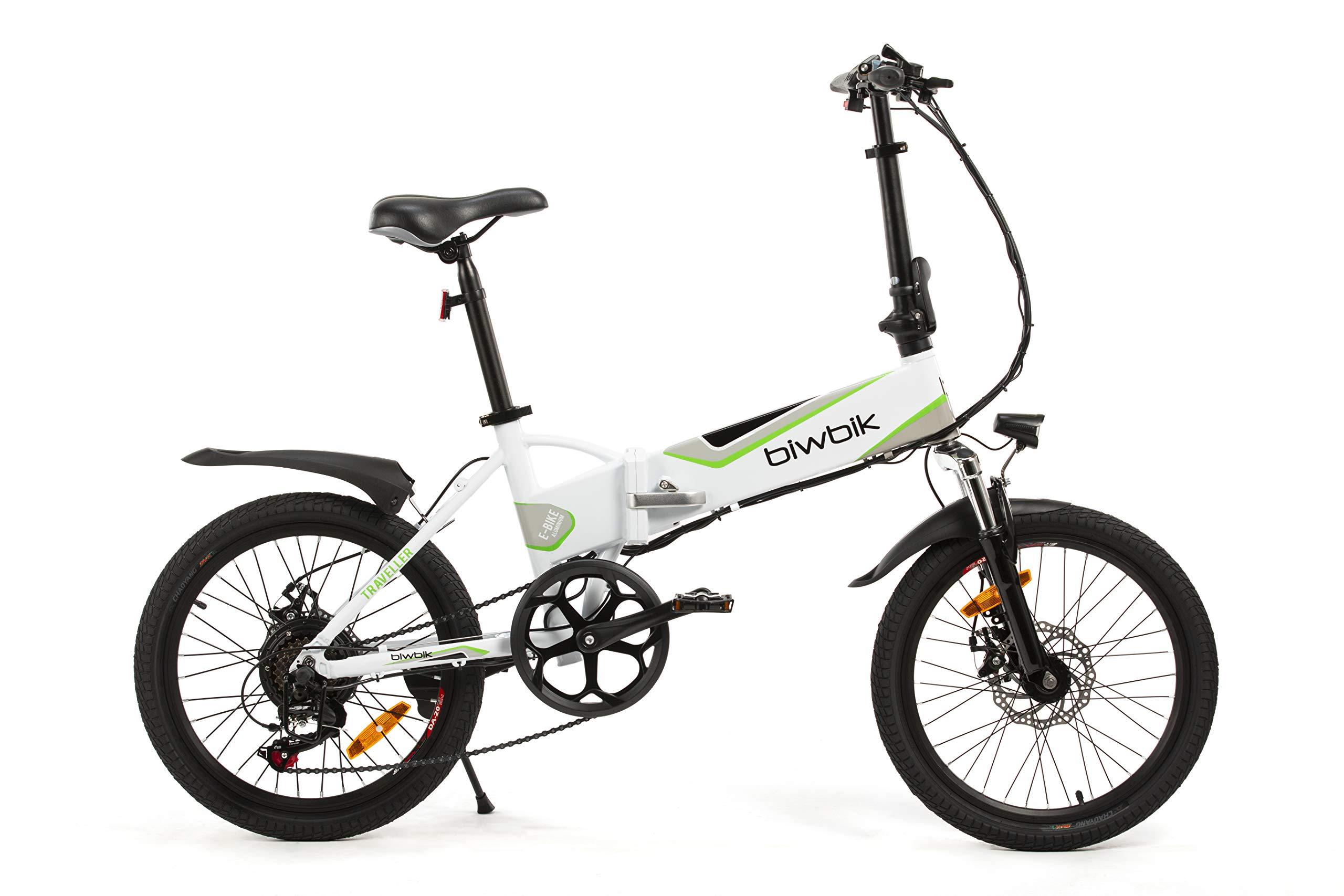 Bicicleta ELECTRICA Plegable Mod. Traveller (Blanco BATERIA 12Ah ...
