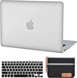 جراب لجهاز MacBook Air 13 بوصة A1369 A1466 شفاف بلاستيك صلب غطاء مطاطي غير لامع (إصدار قديم 2010-2017) مع غطاء لوحة مفاتيح...