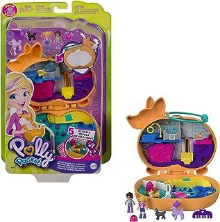 Polly Pocket Coffret Univers Hôtel de Corgi, mini-figurines Polly, Shani et leurs 2 chiens, surprises incluses, jouet pour...