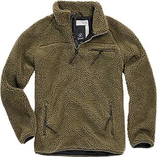 Brandit Fleece Sweatshirt Felpa Verde Oliva Regular