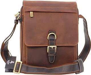 Visconti Messenger Organiser Bag - Genuine Leather- Secure Zip Fastening/iPad/Kindle/Flap Over/Shoulder/Cross Body/Work Bag/Leisure -16011 - LINK