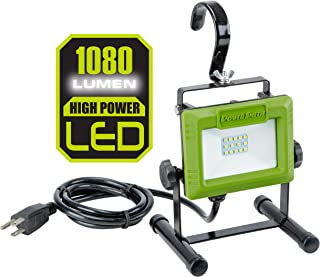 PowerSmith PWL110S 1080 Lumen LED Weatherproof Tiltable Portable Work Light with Large..