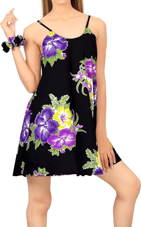 LA LEELA Beach Casual Women's Summer Dress Plus Sleepwear Swimwear Cover Up